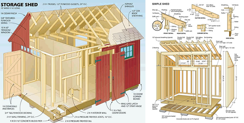 12 000 Shed Plans With Shed Blueprints Diagrams And