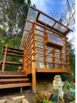 Super Shed #2: Hilltop Paradise Builder: Jeffrey Tohl Location: Studio  City, Calif. Square Footage: 65