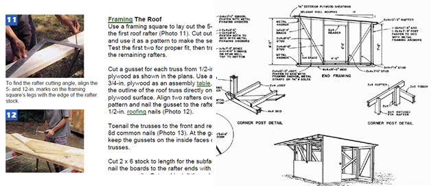 Ryanshedplans 12 000 shed plans with woodworking designs for How to build a pole shed step by step